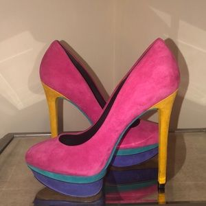 Brian Atwood Colorblock Pumps